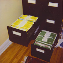 Organized Home Office Filing Cabinet